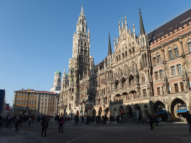 Neues Rathaus aka the New Town Hall in Marienplatz, Munich