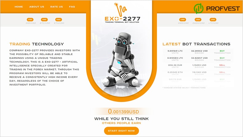 Exo-2277 обзор и отзывы HYIP-проекта