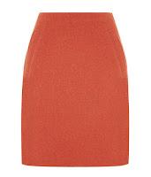 Оранжевая юбка-трапеция до колена
