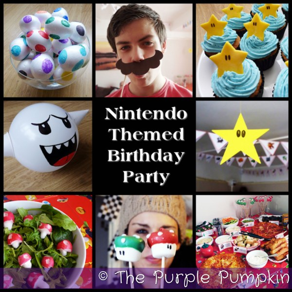 Nintendo Themed Birthday Party | The Purple Pumpkin Blog