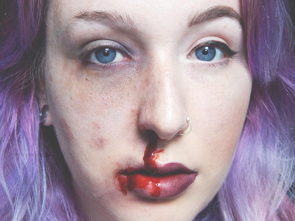 two faced halloween makeup blogtober