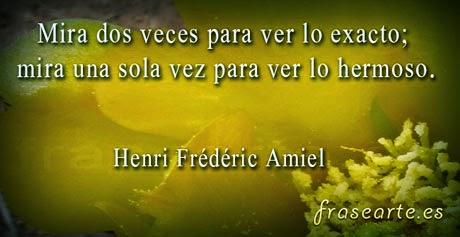 Frases de lo hermoso - Henri Frédéric Amiel