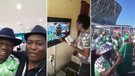 VIDEO: SEE How Nigerians Celebrates Victory As They Won The Match Against Iceland 2-0