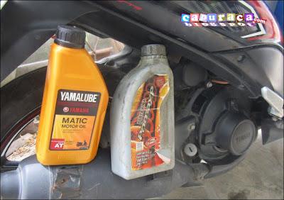 oli matic untuk motor manual
