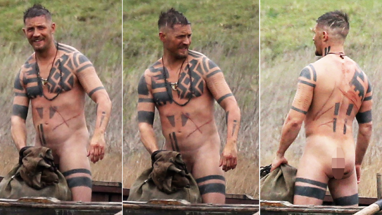 Tom hardy strips naked on the set of period drama taboo