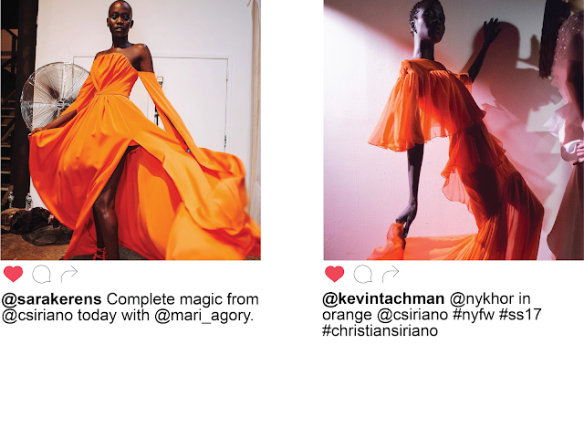 Christian Siriano Orange Dark Skin Models Instagram NYFW Spring Summer 2017