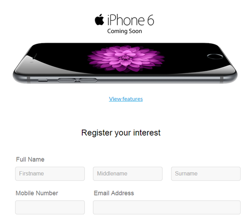 Smart iPhone 6 pre-registration now up!