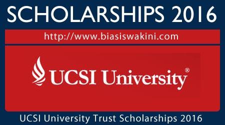 UCSI University Trust Scholarship 2016