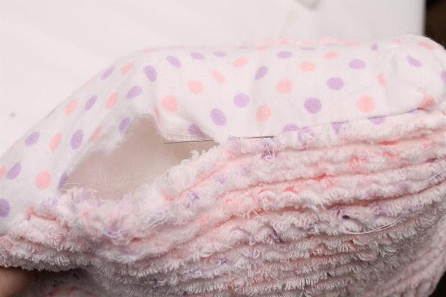 Pillow being sewn shut