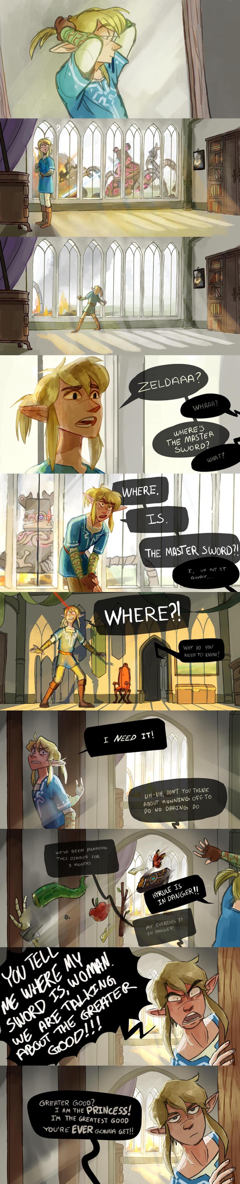 Link needs his sword