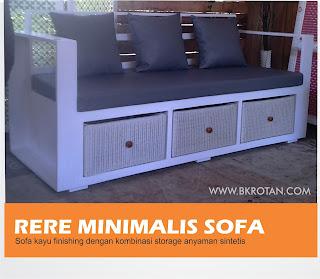 sofa rotan sintetis