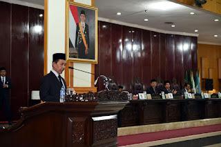 Wagub Sampaikan Pendapat dan Tanggapan Gubernur Terhadap 10 Raperda Usulan DPRD
