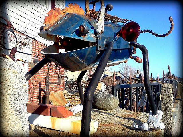 Junk Art, Salem Ferry Wharf, Salem, Massachusett