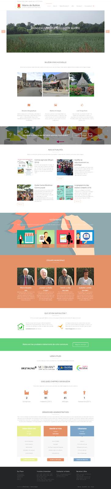 Site internet mairie Buléon