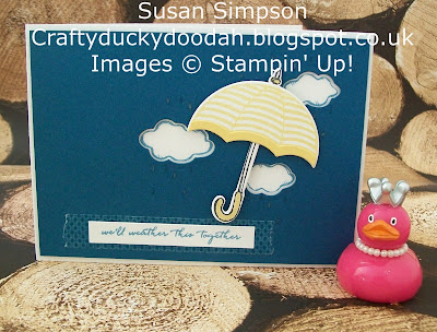 Stampin' Up! UK Independent Demonstrator Susan Simpson, Craftyduckydoodah!, Weather Together, Umbrella Weather Framelits Dies, Supplies available 24/7,