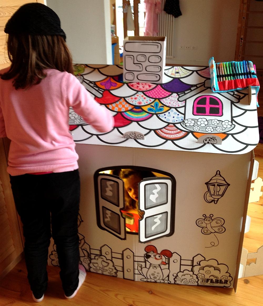 Casetta in cartone da colorare - Casetta in cartone da colorare ...
