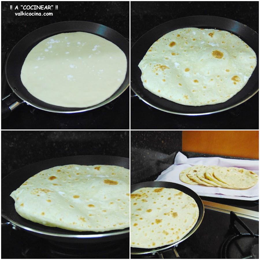 Tortillas de trigo tres ingredientes
