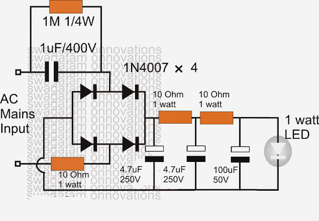 simple 1 watt led driver circuit