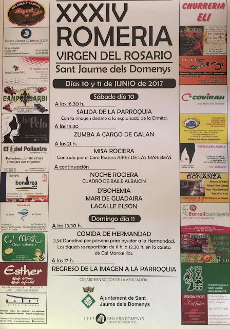Esguard de Dona - XXXIV Romeria Virgen del Rosario en Sant Jaume dels Domenys - Dissabte 9 i Diumenge 10 de juny de 2017