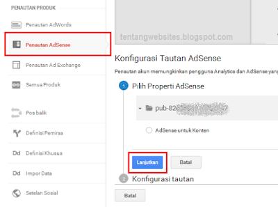 Cara menautkan akun AdSense dengan Analytic