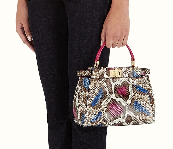 7faf427c38 The Multicolor Python Leather Bag can be worn casually