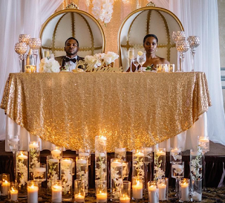 King and Queen gold decor
