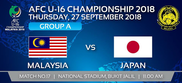 Live Streaming Malaysia vs Japan Afc U16 27.8.2018