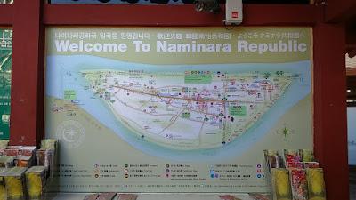 Nami Island Map