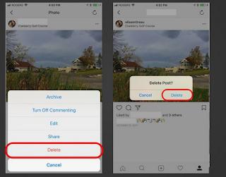 Cara Menghapus Foto dan Video di Instagram