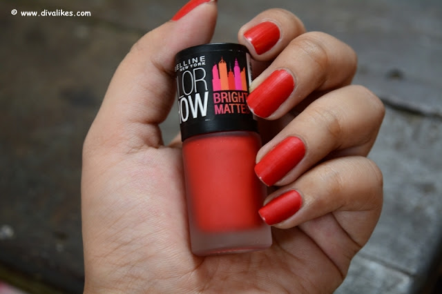 Maybelline New York Color Show Bright Matte Nail Polish Blazing Orange Review