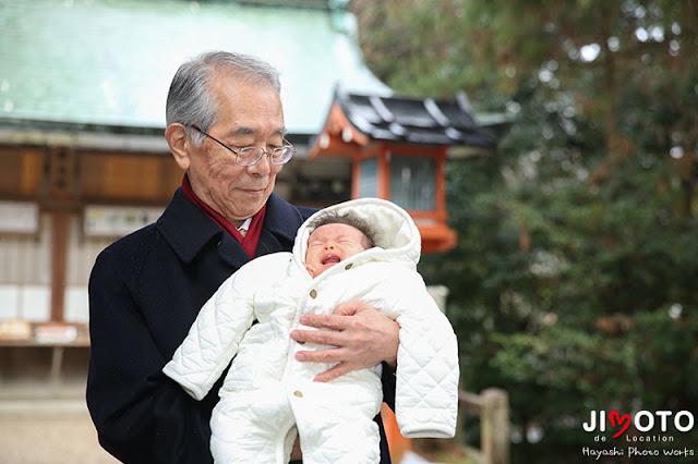 枚岡神社のお宮参り出張撮影