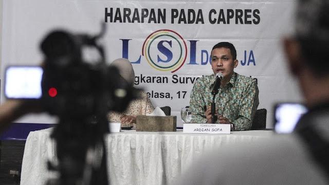 Hasil Survei LSI Denny JA, Jokowi Ungguli Prabowo di Seluruh Pulau Indonesia