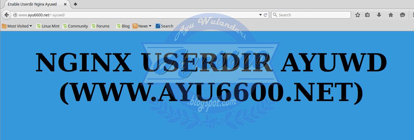 Lab 8 13 Enable Userdir With Nginx - Ayu Wulandari
