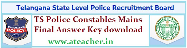 TS Police Constables Mains Final Answer Key download 2016