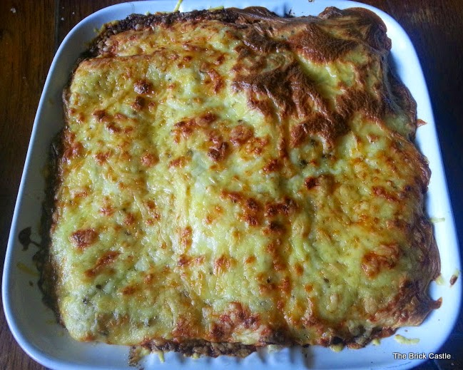 Quorn Lasagne recipe - out of the oven