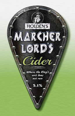 image shows picture of beer clip for Holden's Marcher Lord's cider