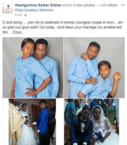 An 18 year old boy married to the love of his life; check beautiful photos