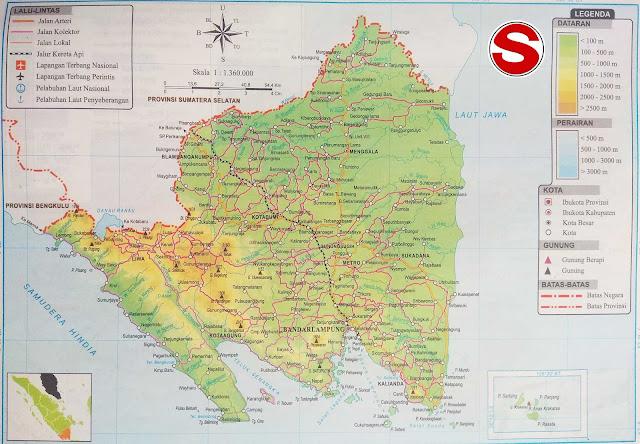 Gambar Peta Lampung