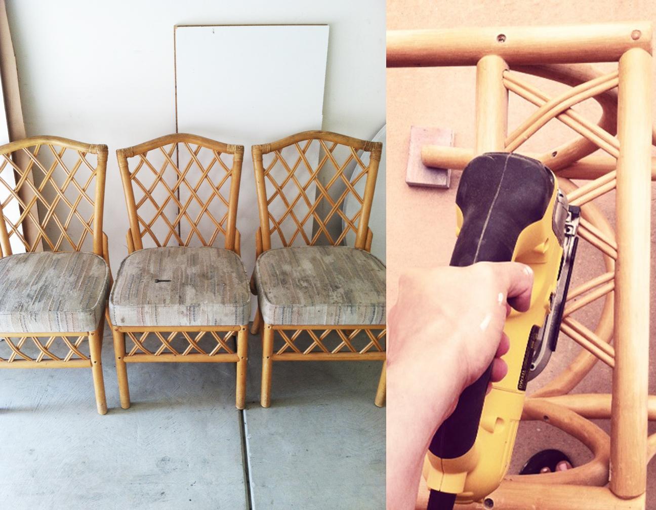 Refinishing Rattan Chairs Tutorial Dorsey Designs