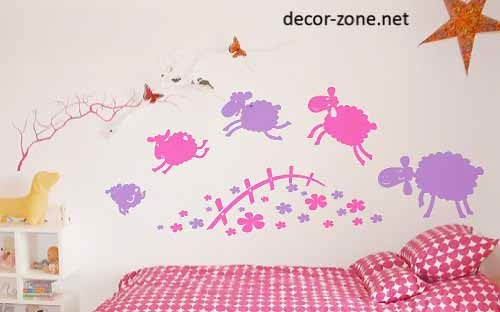 kids room wall decor ideas, vinyl wall stickers