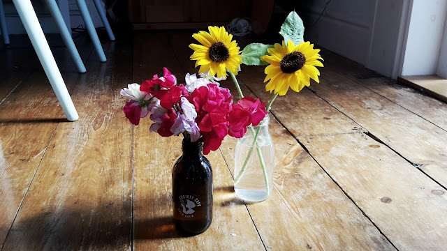 Project 366 2016 day 239 - Sweet Peas & Sunflowers // 76sunflowers
