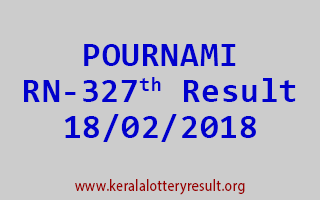 POURNAMI Lottery RN 327 Results 18-02-2018