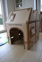 casa de carton facil para niños