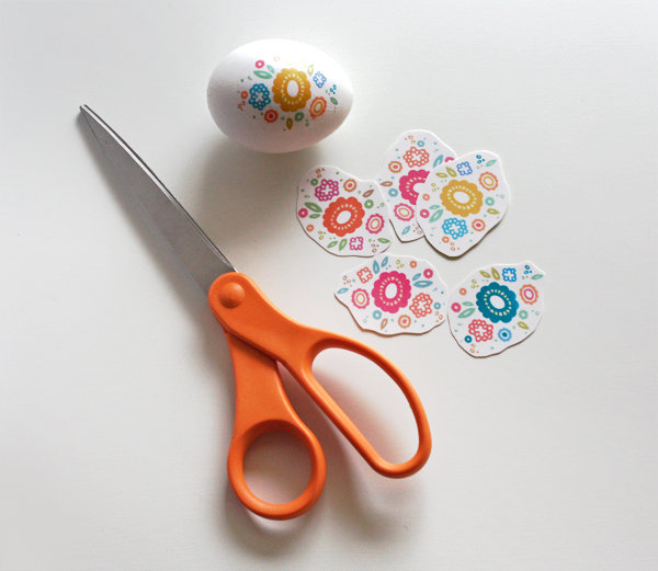 Floral Easter Eggs With Printable Decals