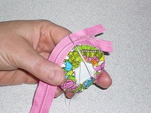 como hacer monederos de tela