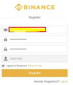 cara mendaftar binance 1