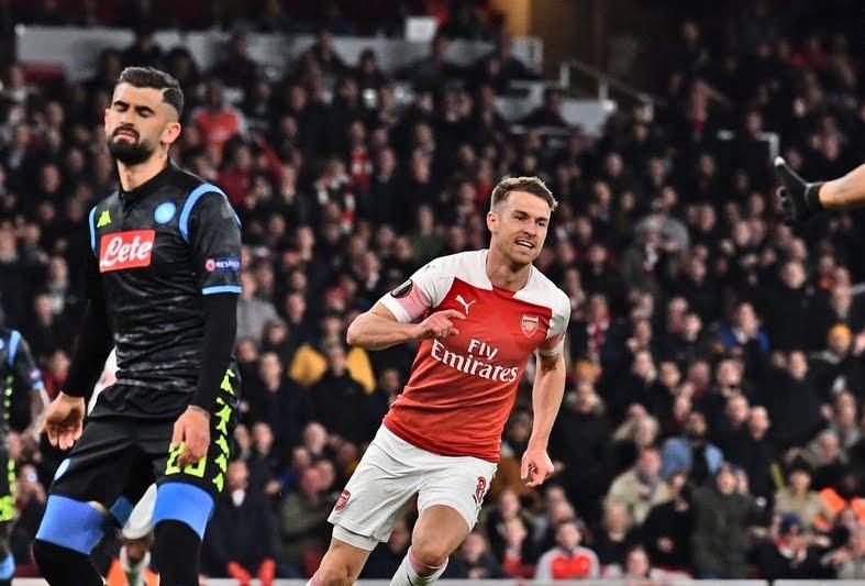 Risultati Europa League: Napoli sconfitto a Londra 2-0 dall'Arsenal con Ramsey e autogol di Koulibaly.