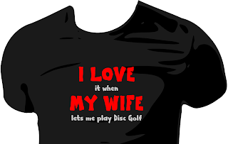 I love my wife Disc Golf Shirt