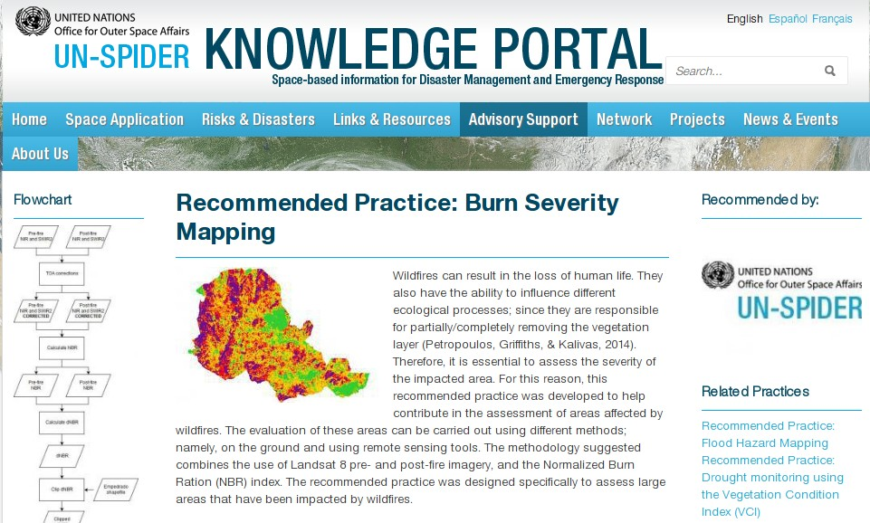 From GIS to Remote Sensing: UN-SPIDER Recommended Practice for Burn