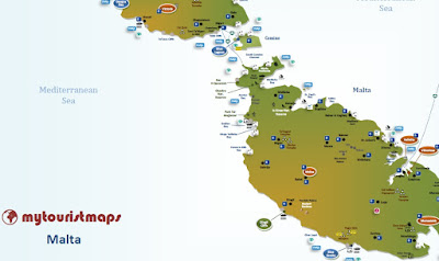 interactive tourist tourism travel map MALTA